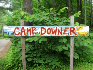 Camp Downer Sign